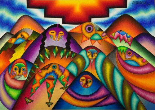 L'energia delle Ande: Roberto Mamani Mamani in mostra allo Spazio Pierre Bonnet
