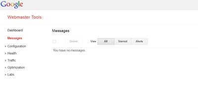 Webmaster Tools Inbox