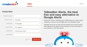 TalkWalker screenshot