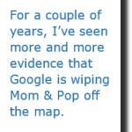 Is Google wiping Mom & Pop off the map?