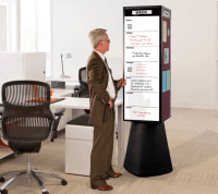 Rotating Whiteboard Kiosk | Free Standing Display Board ...