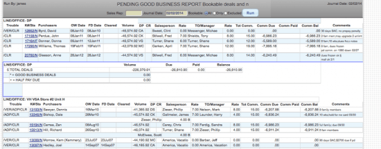 timeshare commissions pending good business report