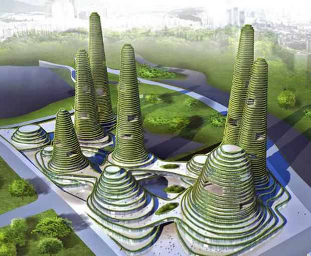 La Gwanggyo Power Centre ha sido diseñada por el estudio belga MVRDV. Sería una autentica ciudad verde que hospedaría hasta 77.000 habitantes. A pesar de que en la actualidad no se sabe exactamente en que momento se comenzará a construir, estará situada muy cerca de Seul en Corea del Sur.
