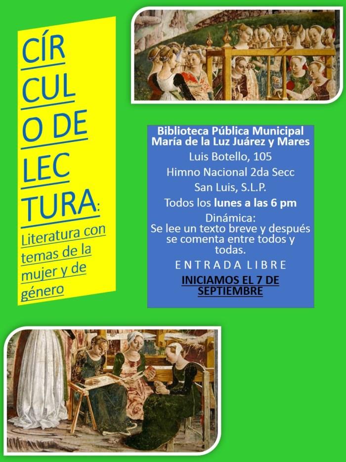 Círculo de Lectura. María de la Luz Juárez y Mares