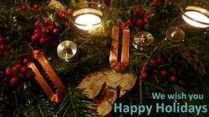 We wish you happy holidays