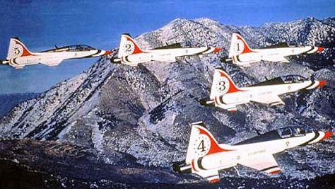 USAF_Thunderbirds_-_T-38s_1980