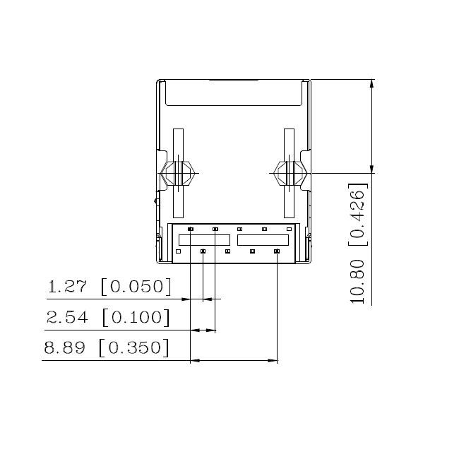 DIP Mounting 10/100 Magnetic RJ45 Jack Tab Down Ethernet