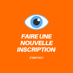 Orange et Blanc Bouton Lecture DJ Charles & Courbis Logo
