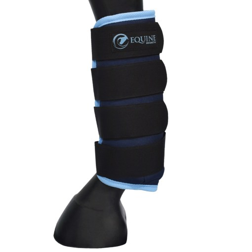 Magnetic stable boots in blue by Equine Magnetix
