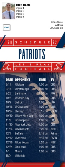 Shop New England Patriots Football Schedule Magnets  MagnetStreet