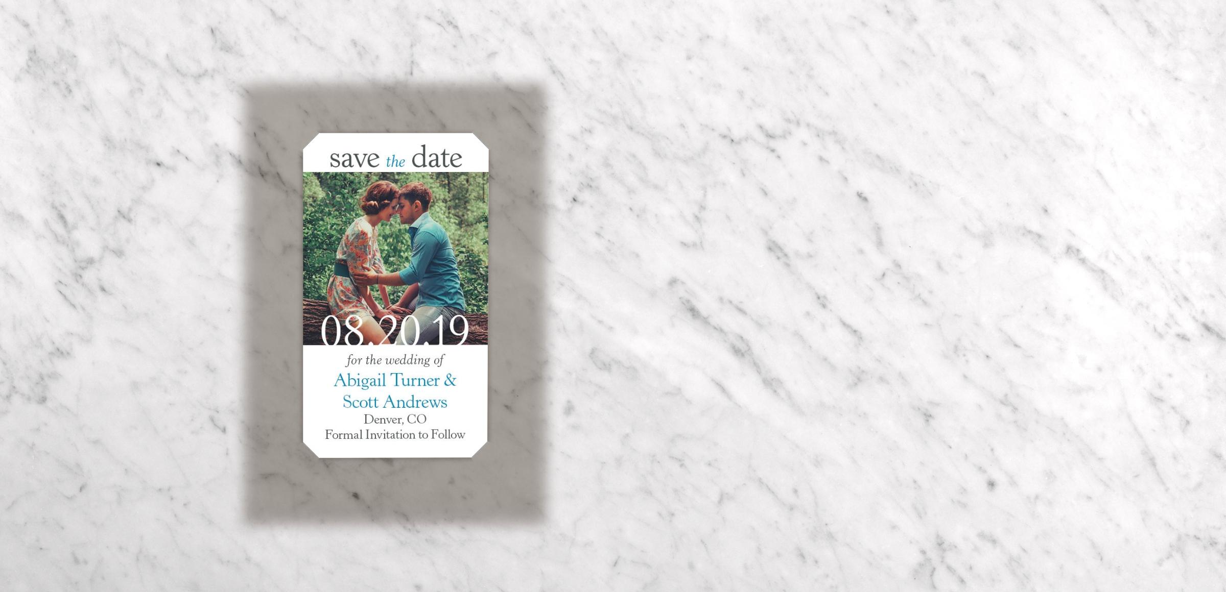 Mini Save Date Magnets - Devoted Magnetstreet