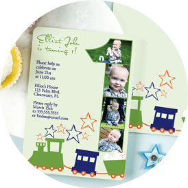 personalized 1st birthday invitations