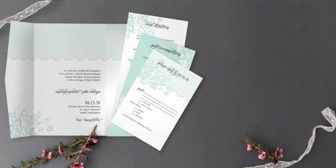 Pocket Wedding Invitations 100 Free Customized Samples