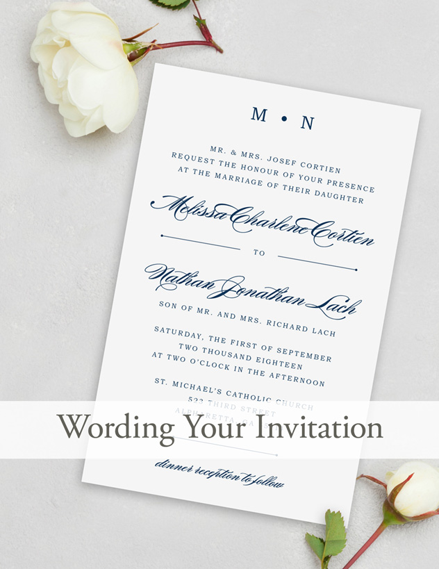 Unique Wedding Invitation Wording