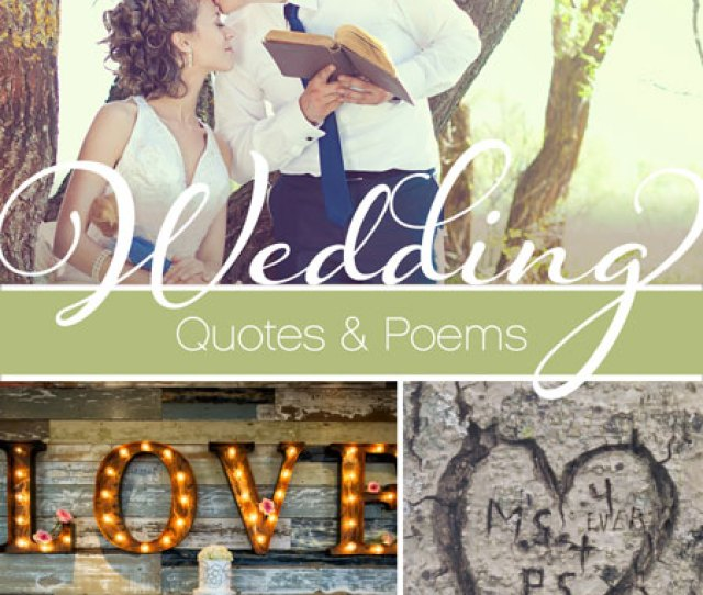 Poems Quotes For Your Wedding