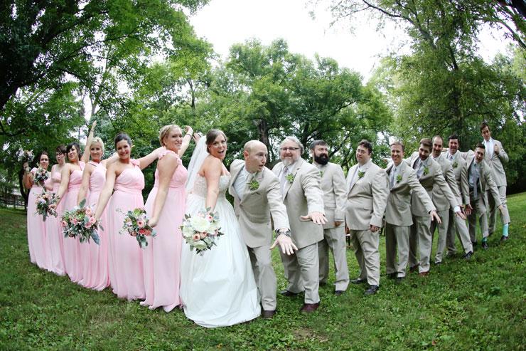 pink and gray wedding | deweddingjpg.com