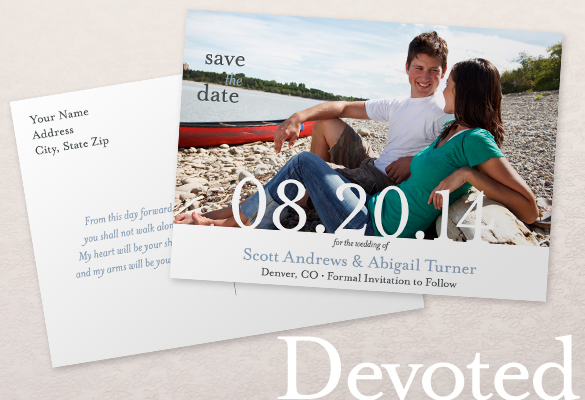 save the date postcards templates
