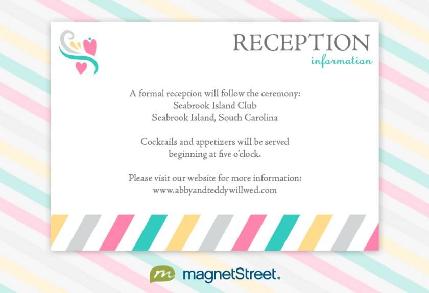 Reception Information Wording