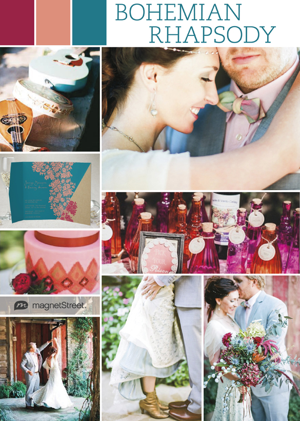 Color Monday Boho Chic Wedding Style  Truly Engaging