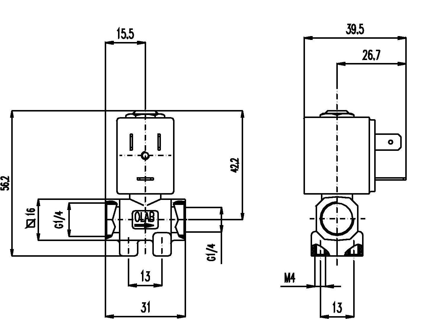 Elektro Magnetventil 1 4 230 V