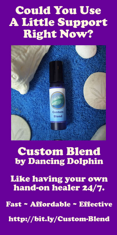 A custom flower essence gem essence aromatherapy blend by Dancing Dolphin