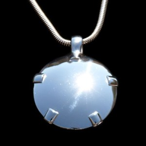 BioElectric Shield Sterling Silver with Sterling Silver Tabs, Polished Finish