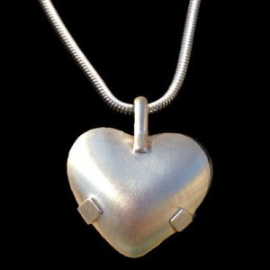 BioElectric Shield Sterling Silver with Silver Tabs Brushed Finished EMF Protection