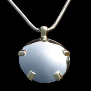 BioElectric Shield 14K White Gold with Yellow Gold Tabs