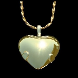 BioElectric Shield 14K Gold Heart for Electromagnetic Protection EMF