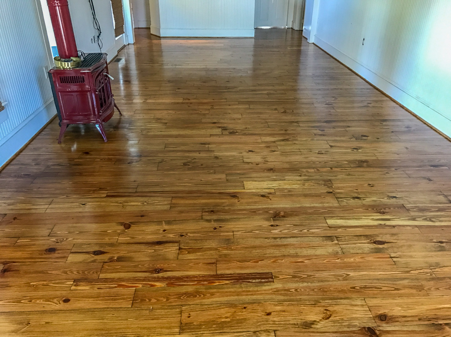 Pine Wide Planks with Early American Stain