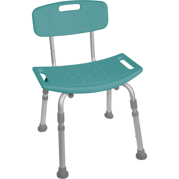 shower tub bench chair picnic time folding bathroom safety with back teal