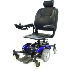 Wheelchair Meaning In Urdu Square Chair Cushions Outdoor Motorized Scooters Magnifying Aids Magnifiers Glasses Intrepid Mid Wheel Power 18 Inch Captain Seat Blue