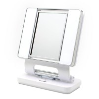 OttLite Natural 5X-1X Lighted Magnifying Makeup Mirror: White