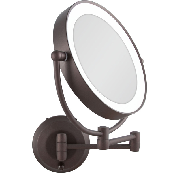 Zadro 1X10X Cordless LED Lighted Wall Mount MakeUp Mirror