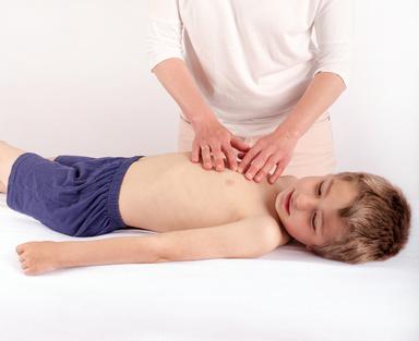 Bowen of a small boy by an osteopath