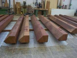 Realizzazione travi di legno su misura
