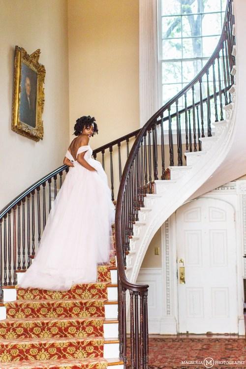 Bridal Staircase Portrait