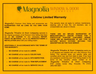 Siding Warranty