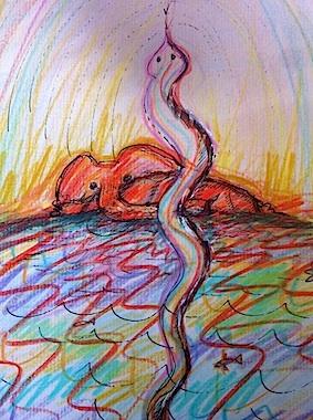Uluru snake by Mary Ann Ghaffurian
