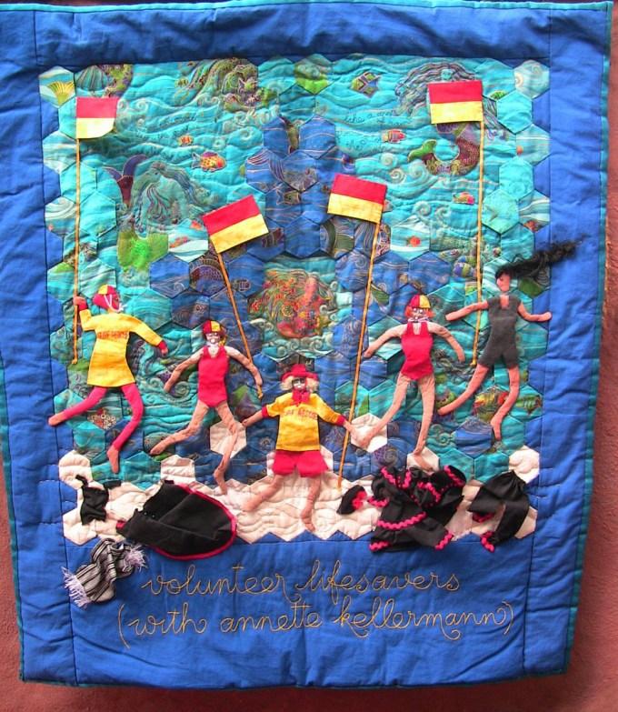Quilt by Eileen Haley. Part of the EarthWomen series.