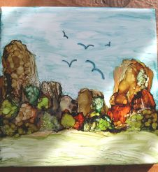 painting in alcohol ink by Belinda Subraman