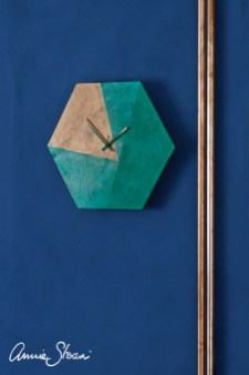 Copper Gilding Wax modern minimal clock, Florence, Black and White Wax, Napoleonic Wall Paint image 1