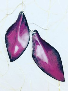 Orchid Form Fold Leaf Earring
