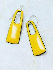 yellow-square-earrings