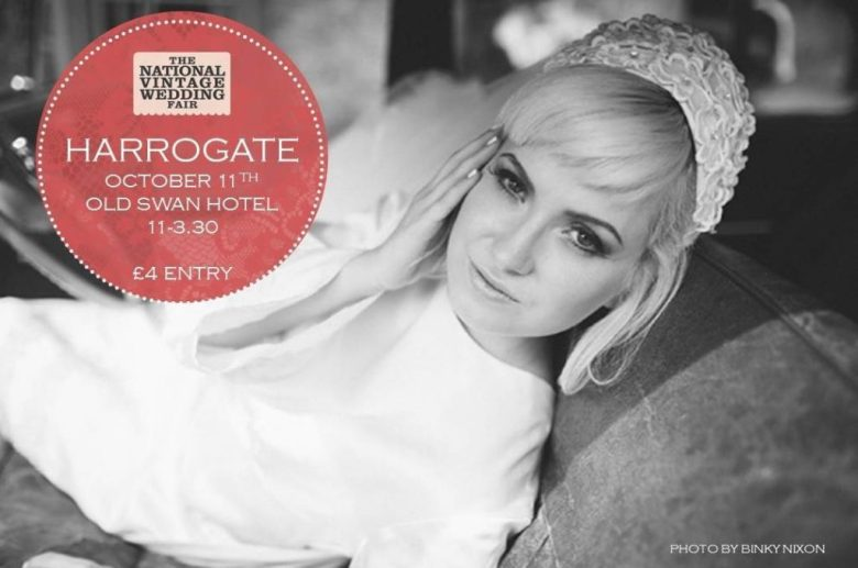 The National Vintage Wedding Fair poster for Harrogate 2015 image by Binky Nixon