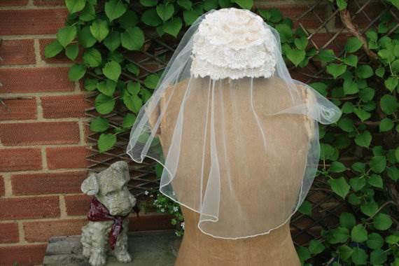 Vintage veil as featured on the Unique Bride Journal