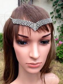 Etsy vintage style wedding head band as seen on Unique Bride Journal
