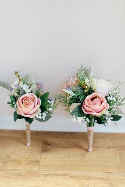 Artificial flower bouquets by Kylee Yee as featured on The National Vintage Wedding Fair blog
