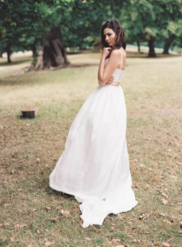 Kate Edmondson 1970s vintage style bridal separates, photo taken by Natasha Hurley