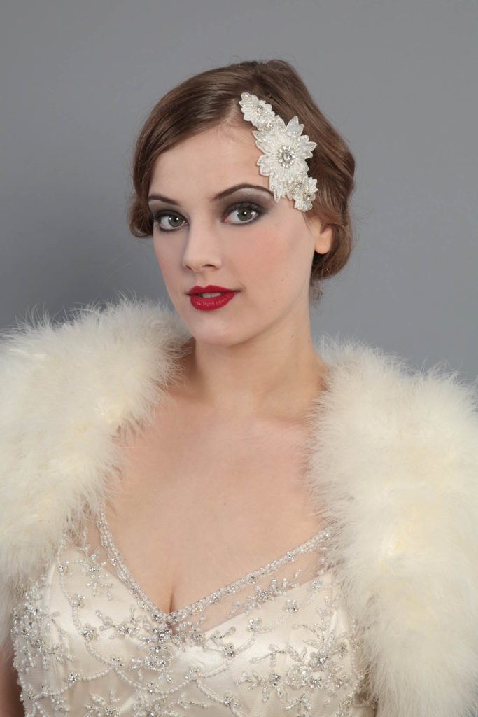 Jazz era 1920s wedding accessories by HT Headwear